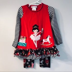 Bonnie Jean Toddler Nutcracker Holiday Outfit